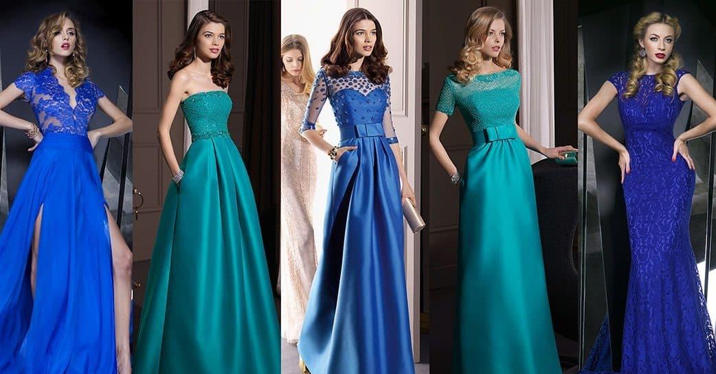 Красивые длинные платье на новый год