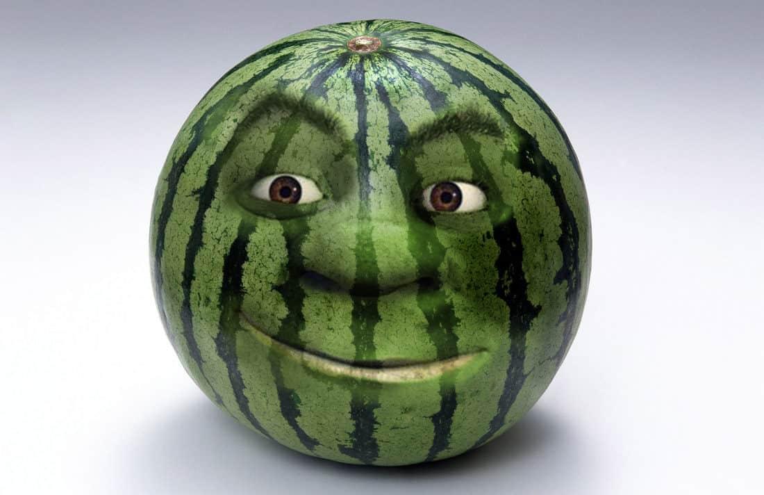 Картинка арбуз с лицом