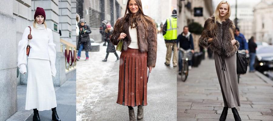 зимняя юбка в пол