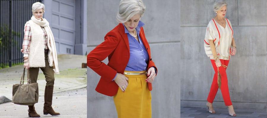 Плотные штаны одинакового тона для пенсионеров
