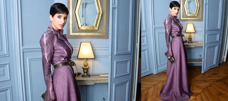 Благородное платье в сочетании интерьера