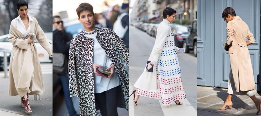 Пальто у Дины Абдулазиз удивляют своей уверенностью
