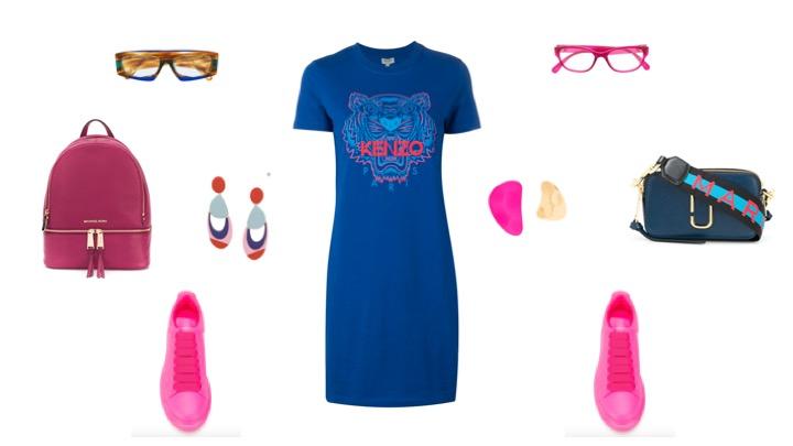 Платье-футболка KENZO: удобно и эффектно!